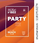 night party banner template for ...   Shutterstock .eps vector #1181913274
