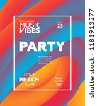 night party banner template for ... | Shutterstock .eps vector #1181913277