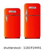 retro fridge icon. flat... | Shutterstock .eps vector #1181914441