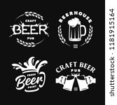 craft beer pub emblems labels... | Shutterstock .eps vector #1181915164