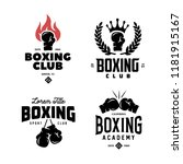 boxing club labels emblems... | Shutterstock .eps vector #1181915167