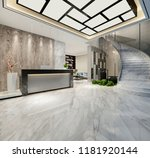 3d render of luxury hotel lobby ...   Shutterstock . vector #1181920144