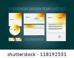 orange vector stationery design ... | Shutterstock .eps vector #118192531