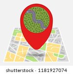 map of an imaginary city with... | Shutterstock .eps vector #1181927074