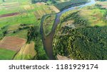 natural river from the drone | Shutterstock . vector #1181929174