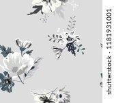 seamless floral pattern.flowers ... | Shutterstock .eps vector #1181931001