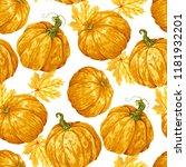 harvest season pumpkin vector... | Shutterstock .eps vector #1181932201