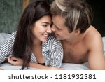 close up young couple lying in... | Shutterstock . vector #1181932381