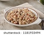 bowl of brown  red and wild... | Shutterstock . vector #1181933494