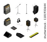 isometric music stage equipment ... | Shutterstock .eps vector #1181933644