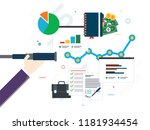 hand with lunette analyzing... | Shutterstock .eps vector #1181934454
