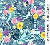 vector tropical seamless... | Shutterstock .eps vector #1181938234