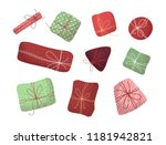 vector set of various gifts... | Shutterstock .eps vector #1181942821