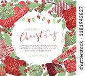 vector merry christmas... | Shutterstock .eps vector #1181942827