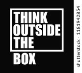 think outside the box.... | Shutterstock .eps vector #1181942854