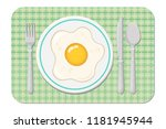 fried egg. cooking lunch ... | Shutterstock .eps vector #1181945944