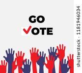 go vote poster template.... | Shutterstock .eps vector #1181946034