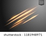 abstract gold wavy line of... | Shutterstock .eps vector #1181948971