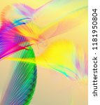 fantastic line art flying birds ... | Shutterstock . vector #1181950804