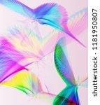 fantastic line art flying birds ... | Shutterstock . vector #1181950807