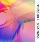 fantastic line art flying birds ... | Shutterstock . vector #1181950837