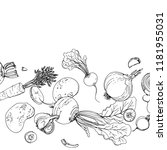 vegetables. fresh food. beets ... | Shutterstock .eps vector #1181955031