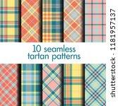 set of seamless tartan patterns | Shutterstock .eps vector #1181957137