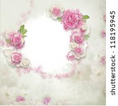Vintage Background With Stamp...