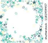 doodle stars frame. hand drawn...   Shutterstock .eps vector #1181959957