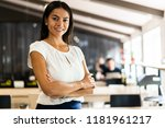 smiling professional... | Shutterstock . vector #1181961217