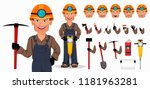 miner man  mining worker.... | Shutterstock .eps vector #1181963281
