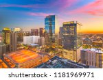 phoenix  arizona  usa cityscape ... | Shutterstock . vector #1181969971