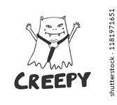 creepy. halloween sticker for... | Shutterstock .eps vector #1181971651