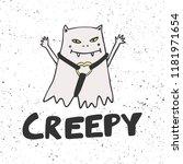 creepy. halloween sticker for...   Shutterstock .eps vector #1181971654