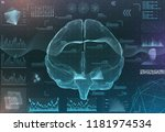 vector set of brain research...