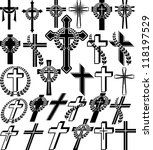 Crosses   Set Of Vector...