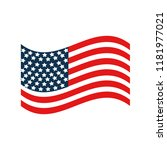 united stated flag patriot... | Shutterstock .eps vector #1181977021