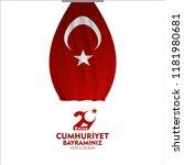 29 ekim cumhuriyet bayrami  day ... | Shutterstock .eps vector #1181980681