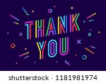 thank you. greeting card ... | Shutterstock .eps vector #1181981974