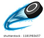 hockey puck with an effect.... | Shutterstock .eps vector #1181983657