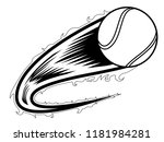 tennis ball with an effect icon.... | Shutterstock .eps vector #1181984281