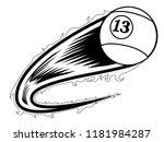 billiard ball with an effect... | Shutterstock .eps vector #1181984287