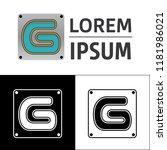icon  logo  conceptual letter g....   Shutterstock .eps vector #1181986021