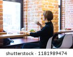 asian business woman working in ... | Shutterstock . vector #1181989474