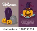 halloween celebration design | Shutterstock .eps vector #1181991214