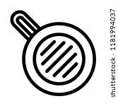 meal fry pan icon. outline meal ... | Shutterstock .eps vector #1181994037
