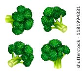 green broccoli icon set.... | Shutterstock .eps vector #1181994331