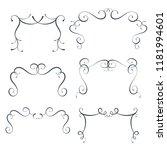vector flourish frames set ... | Shutterstock .eps vector #1181994601