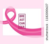 breast cancer awareness banner... | Shutterstock .eps vector #1182000637