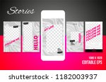 editable social media stories... | Shutterstock .eps vector #1182003937